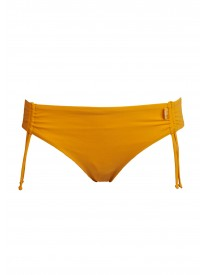 On Ice Papaya Ruched Bikini Bottoms
