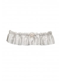 Silk and Pearl Ivory Garter