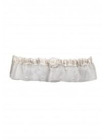 Organza and Pearl Ivory Garter