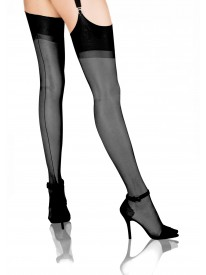 Seduction Couture Black Seamed Stockings