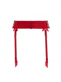Red Strap Suspender Belt