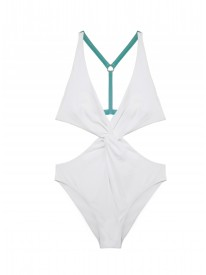 White Ring Cut-Out Swimsuit