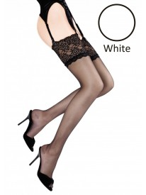 Sensual White Lace Top Stockings