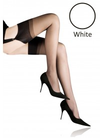 Champs Elysees Luxe White 100% Silk Stockings